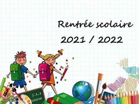 Bonne rentrée scolaire 2021/2022